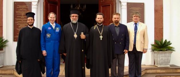 Православный храм в Йоханнесбурге посетил российский космонавт.