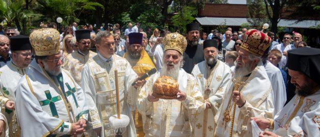 Настоятель и прихожане храма прп. Сергия приняли участие в праздновании 40-летия сербского храма