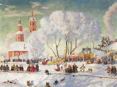 Кустодиев Б.М. Масленица3