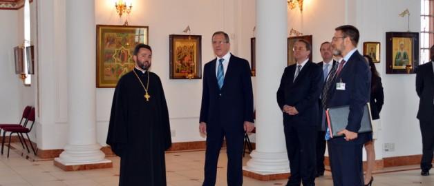 Храм прп. Сергия Радонежского посетил Министр иностранных дел Российской Федерации