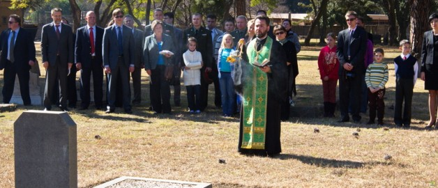 On Wednesday the 26th of June the Hegumen of St. Sergius of Radonezh Rev. Danil Lugovoy performed a memorial service at the grave of Lieutenant Boris Aleksandroivich Strolman, who was buried in the city of Pretoria the capital of RSA.
