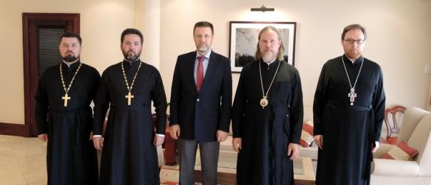 Встреча архиепископа Марка с Послом РФ в ЮАР М.И. Петраковым.