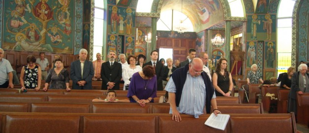 Праздник в румынском православном приходе