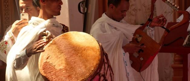 Освящение престола в коптском монастыре