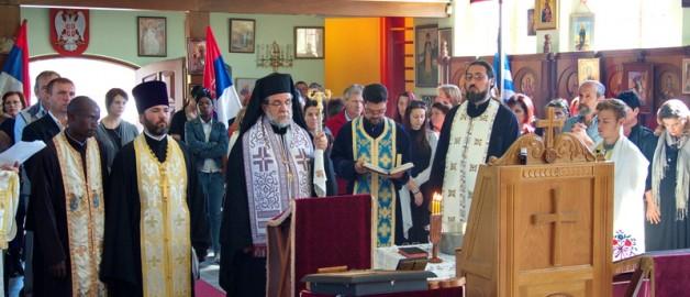 Настоятель и прихожане храма прп. Сергия Радонежского вознесли молитвы о пострадавших от наводнения в Сербии