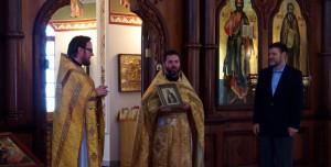 Икона прп. Серафима Саровского передана в дар храму