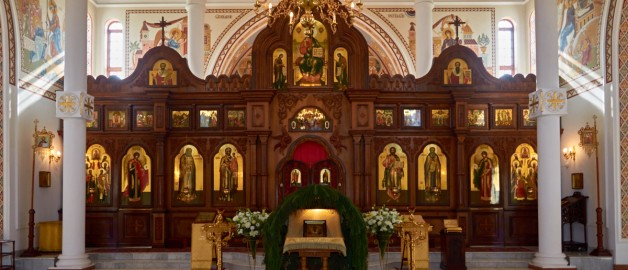 Christmas service in the church of St. Sergius of Radonezh