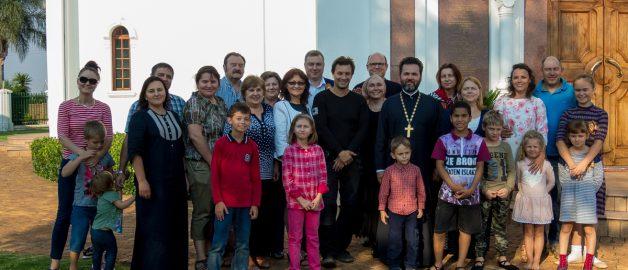 Мотопутешественник из России посетил храм прп. Сергия Радонежского